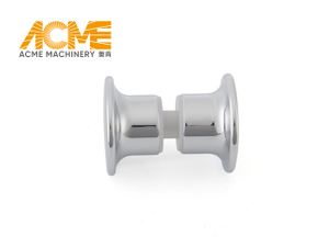 Sliding Round Glass Shower Door Knobs Chrome